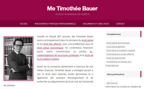 Timothée Bauer avocat Geneve